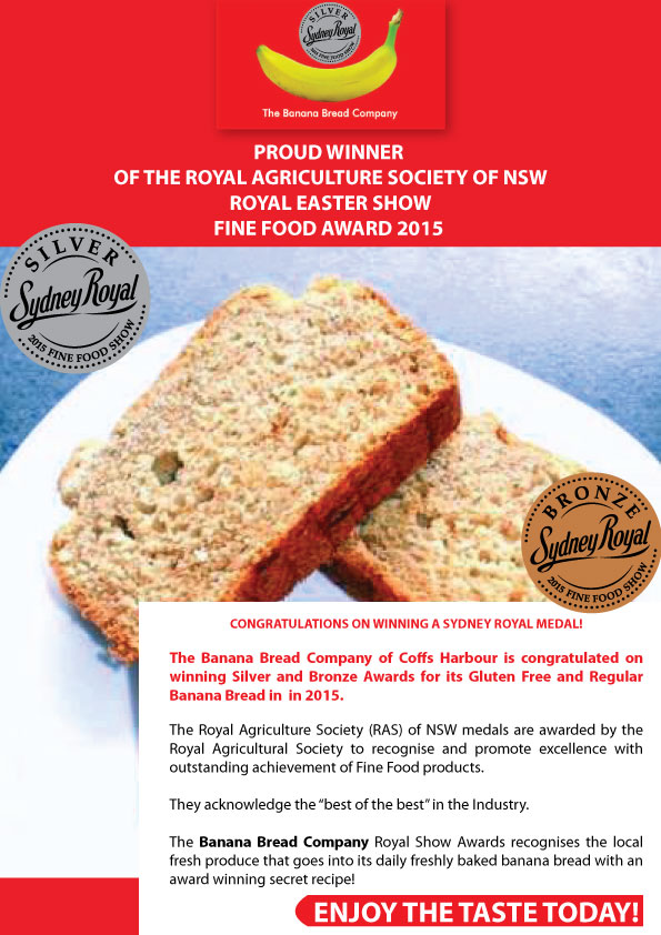 Bbc award1g the banana bread company uses solar power and local produce from the coffs coast combined with a great recipe to make the best tasting product available forumfinder Images